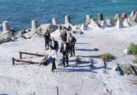 Министър Павлова инспектира работата по реализацията на проекта на острова. Снимка Община Бургас