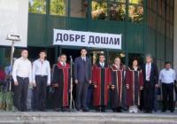 Тържеството се състоя пред входа на Четвърти корпус на Техническия университет в Пловдив. Снимка Aspekti.info