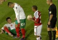 Българите хвърлиха много усилия в мача, но успяха да задържат равенството.
