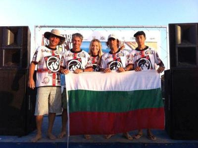 Български тим за пръв път се включи в световно първенство по кайтбординг.  Снимка Община Бургас