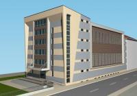 Визията на новия корпус е съобразена с архитектурата на съществуващата сграда. Визуализация Община Бургас