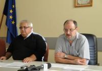Доц. Иванов (вляво) и доц. Козлуджов представиха програмата и целите на честванията. Снимка Aspekti.info