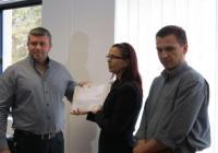 """Десислава Желязкова благодари на шефовете на общинските предприятия за добрата им работа. Снимка Район """"Западен"""""""