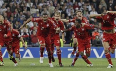 Баварците ликуваха след победата.  Снимка ЕПА/БГНЕС