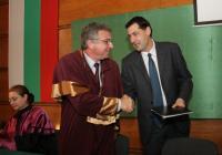 Кметът на Пловдив и ректорът на УХТ официално обявиха прехвърлянето на собствеността. Снимка УХТ - Пловдив