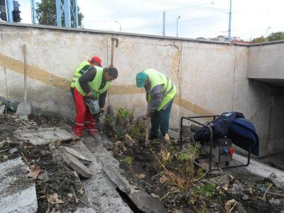 """Състоянието на съоръжението е под всякаква критика, но от общинското предприятие са решени да го направят използваемо.  Снимка ОП """"Чистота"""""""