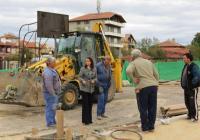 """Десислава Желязкова провери на място как върви строителството на обекта. Снимка Район """"Западен"""""""