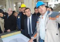 Министърът се убеди, че на обекта се работи усилено. Снимка Aspekti.info