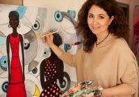 """""""Когато рисувам, аз вкарвам много енергия, емоция  и голяма любов в картините си"""", споделя Мая Бокова."""