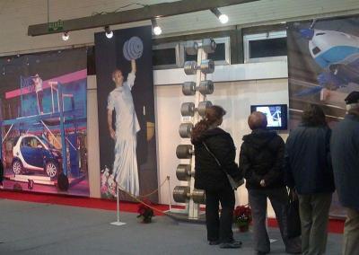 Пловдивчани могат да разгледат експозицията в изложбената зала на Дружеството на пловдивските художници.  Снимка Aspekti.info