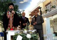 """Кметът на район """"Тракия"""" Костадин Димитров (вляво) и инвеститорът Христо Томов по време на освещаването"""