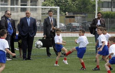 Бъдещите футболисти вече имат още едно хубаво място за тренировки.  Снимка dariknews.bg