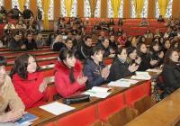 Гостите от Алматинския технологичен университет участваха и в тържеството по случай откриването на учебната година за студентите задочно обучение УХТ-Пловдив
