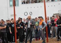 """Повече от 150 младежи се събраха за откриването, на което присъства и Йордан Йовчев. Снимка Район """"Тракия"""""""