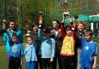 Пет отбора се включиха в ученическия футболен турнир. Снимка Район Западен