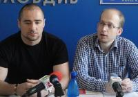Ангел Георгиев (вляво) и Християн Даскалов изложиха основните искания на Националното представителство на студентските съвети Снимка © Aspekti.info