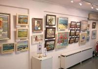 """Експозицията е подредена в галерия """"Бургас""""."""