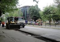 След като бе ремонтирано южното платно на отсечката от булеварда, сега започва работата по северното. Снимка © Aspekti.info (архив)