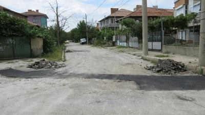 """Проблемната улица се нуждае от цялостна реконструкция.  Снимка Район """"Западен"""""""