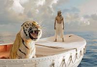 """Човек и тигър се изправят срещу силата на природата в """"Животът на Пи""""."""