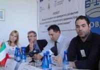 """Зам.-кметът на """"Марица"""" и представителите на общините партньори инфоормираха за приключилите дейности и постигнатите резултати. Снимка © Aspekti.info"""