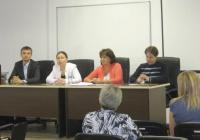 Пресконференция за събитието доц. д-р Петя Бъркалова и Весела Казашка координатори на проекта за висшето училище.