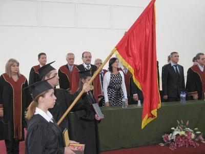 """Церемонията се проведе в новия Спортен комплекс на висшето училище на бул. """"България"""" 238 в Пловдив."""