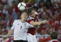 И в последния си мач в групите - срещу Дания, Германия доказа превъзходството си. Снимка Reuters