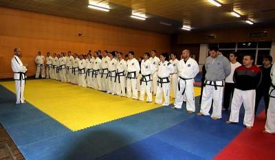 На новогодишната тренировка бяха връчени награди на всички участници в международни състезания през 2013 година.