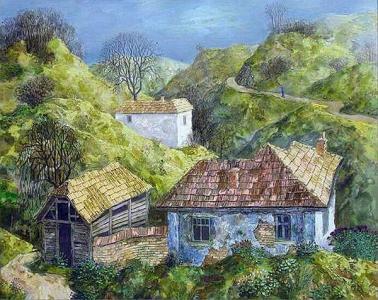 """В настоящата изложба Хинко Хинков се представя с петнадесет картини, част от които е подготвил специално за изявата си в галерия """"Аспект""""."""