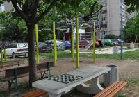 """Модерна спортна площадка бе изградена на улица """"Преспа"""" в район """"Източен""""."""