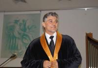 Теодосий Спасов вече е доктор хонорис кауза на АМТИИ. Снимка: Aspekti.info