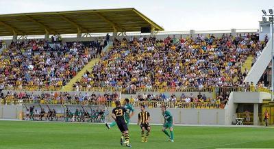 """Последният контролен мач на """"Ботев"""" е на 10 юли на стадиона в """"Коматево""""  Снимка: ПФК """"Ботев""""(архив)"""