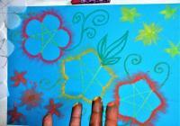 Aрттерапевтичната техника за рисуване с пръсти освобождава ума от напрежението на ежедневието. Снимка: организаторите