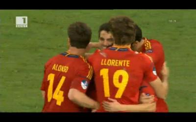 Испанците обезумяха от радост след точно изпълнената от Фабрегас дузпа, която ги изпрати на финала.