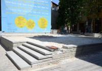 """Сцената на открито ще бъде готова за началото на """"Капана фест"""". Снимка: Община Пловдив"""