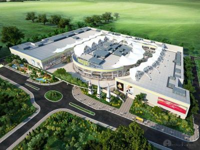 Първият мол на открито ще е в богато озеленена среда.