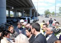 Министър Лиляна Павлова заяви през април в Бургас, че пътният възел ще бъде готов на 30 юни, 103 дни предсрочно Снимка Община Бургас (архив)