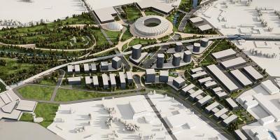 Предложението за новия стадион е част от по-масивен проект, а именно иновативния Airport City Sofia (Летищен град София).  Снимка: MAG