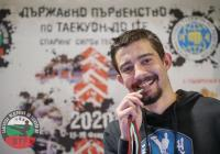 Атанас Болчинов грабна златото при мъжете. Снимката е предоставена отБългарската федерация по таеуондо ITF.