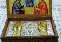"""Мощите ще бъдат изложени в митрополитския храм """"Света Марина"""" в украсена ковуклия."""