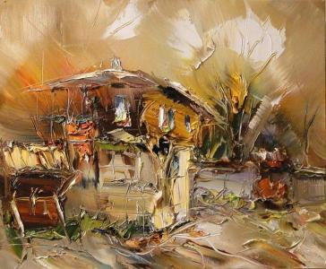 Пейзажите на Георги Петров са като изображения на романтични сънища.